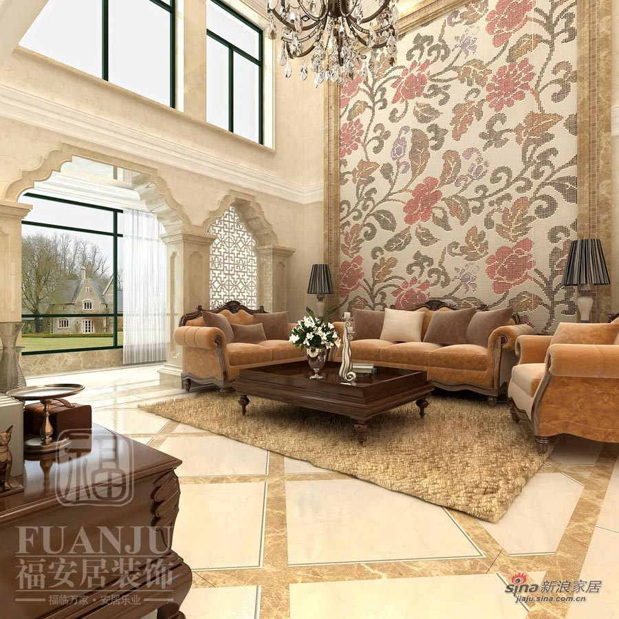欧式 二居 客厅图片来自用户2757317061在独特的艺术展现21的分享