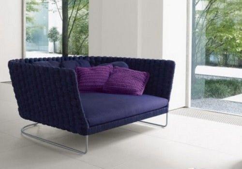 毛线编织的沙发罩