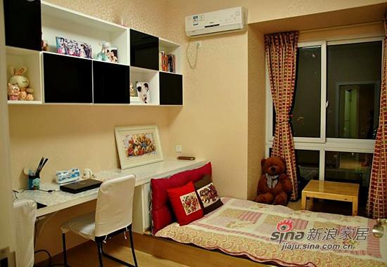 书房和客卧都设计在一起,工作累了可以躺一