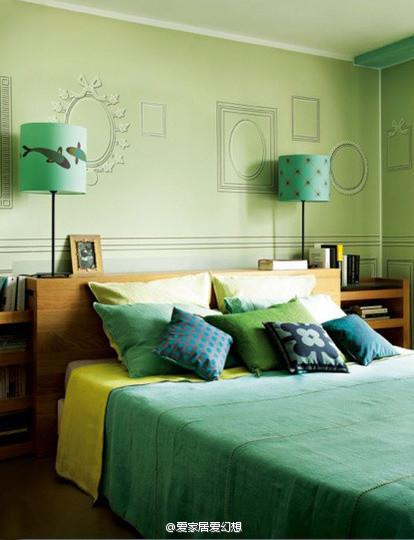 卧室 绿色 北欧图片来自用户2746953981在高一度的享受 傲娇卧室的别样魅力的分享