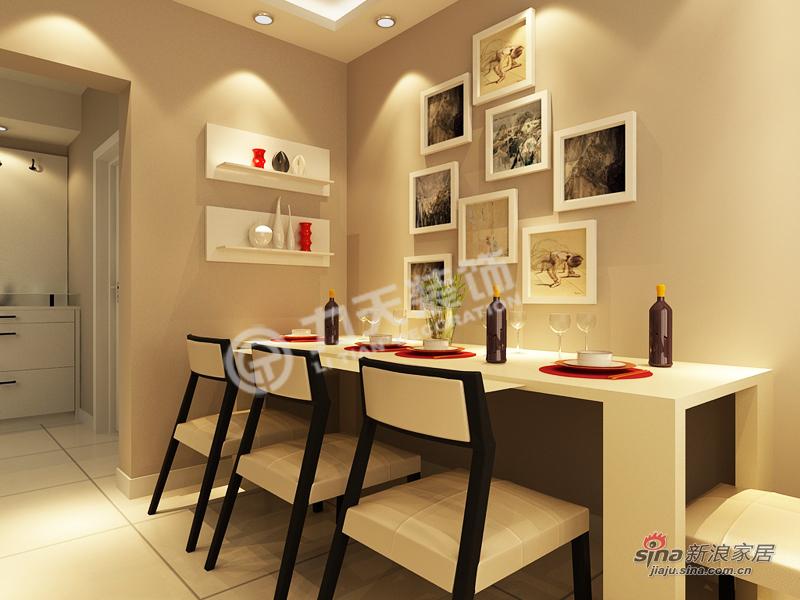 简约 三居 餐厅图片来自阳光力天装饰在福源九方-三室两厅一厨一卫-现代简约83的分享
