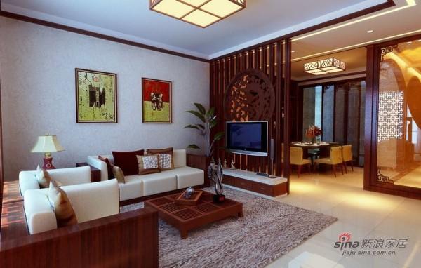 中国铁建·花语城客厅效果图