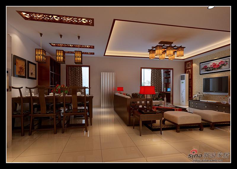 中式 三居 餐厅图片来自用户1907696363在10万演绎完美121平中式3居17的分享