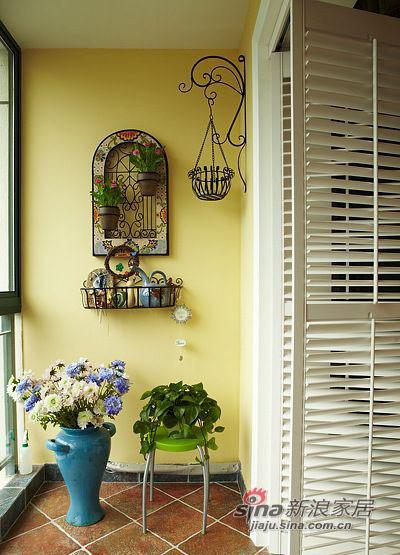 田园 二居 阳台图片来自佰辰生活装饰在90平复古风潮田园风格2居36的分享