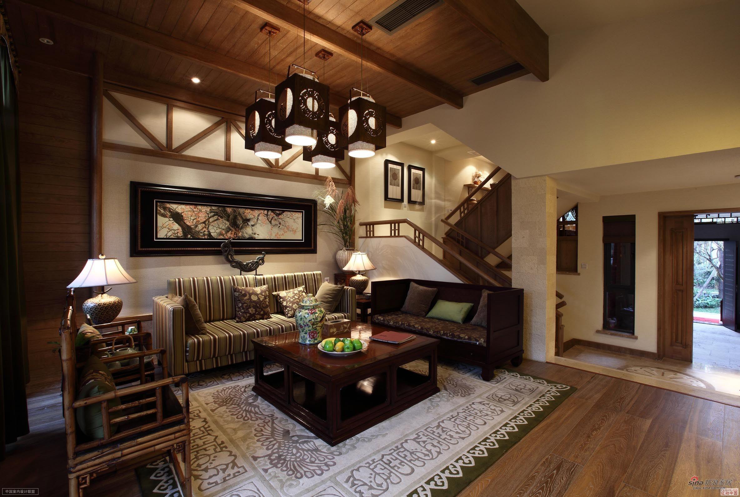 中式 复式 客厅图片来自用户1907659705在【高清】260平古典中式风89的分享