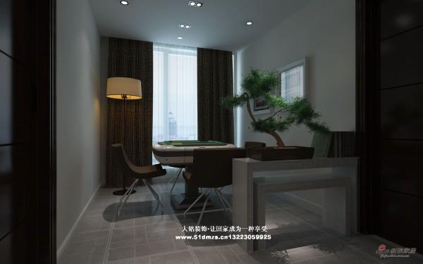 简约风格家庭装修设计-棋牌室设计效果图