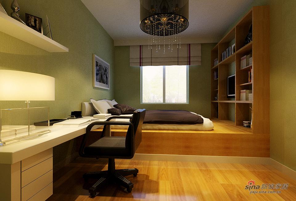 混搭 二居 卧室图片来自用户1907655435在天津实创装饰-现代混搭41的分享