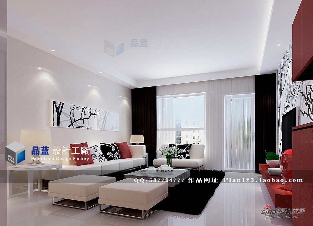 简约 三居 客厅图片来自用户2739153147在【高清】13万打造120平臆想中女人花97的分享
