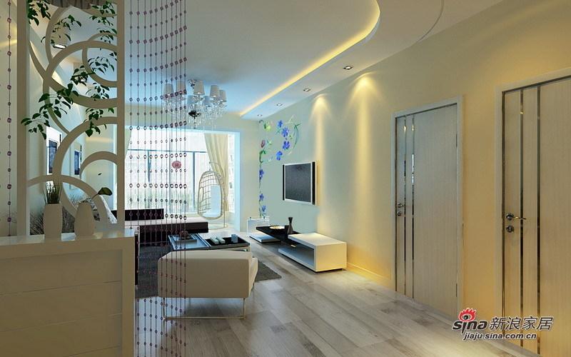 简约 二居 客厅图片来自用户2738093703在5.2万打造现代简约经典两居室56的分享
