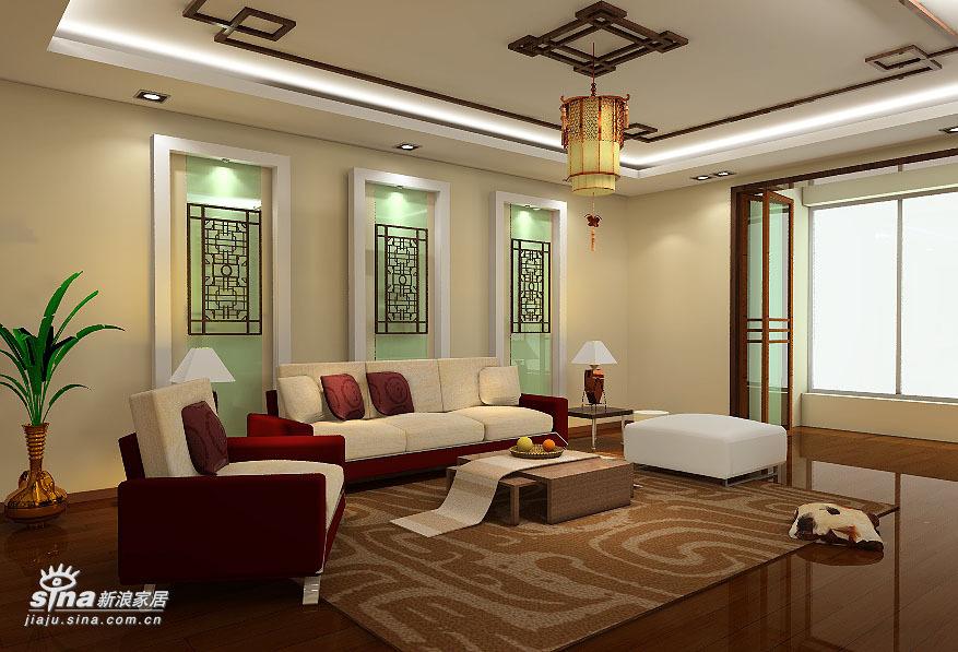 中式 四居 客厅图片来自用户2757926655在沉稳大气 完全中国风34的分享