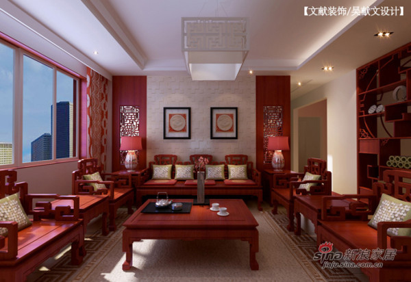 现代中式沙发背景