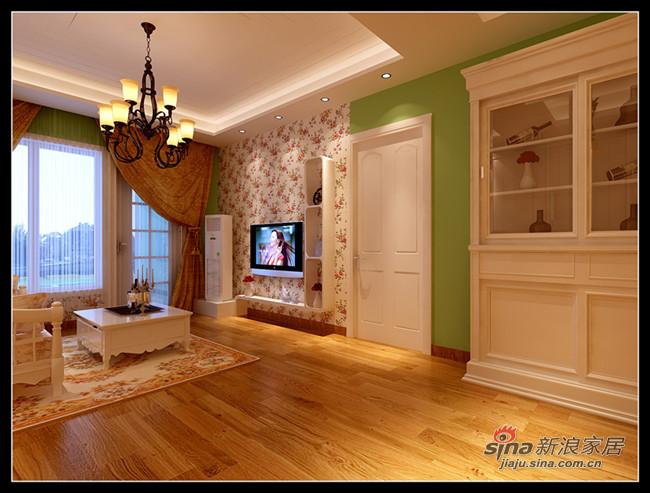 田园 二居 客厅图片来自用户2737946093在9万打造130平田园风格40的分享