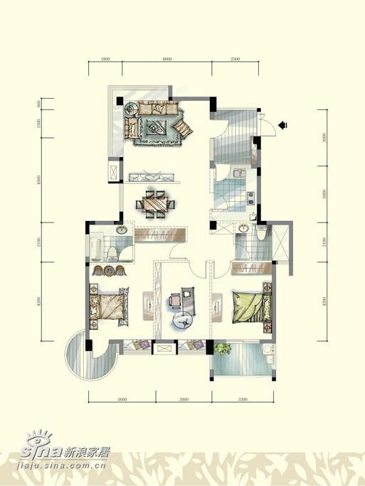 简约 三居 户型图图片来自用户2558728947在九重天3栋17楼35的分享