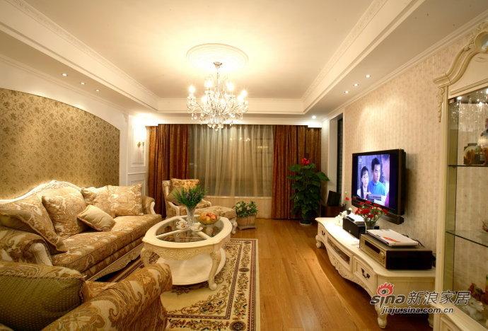 欧式 三居 客厅图片来自用户2746869241在13万打造80后夫妻145平精致奢华3居14的分享
