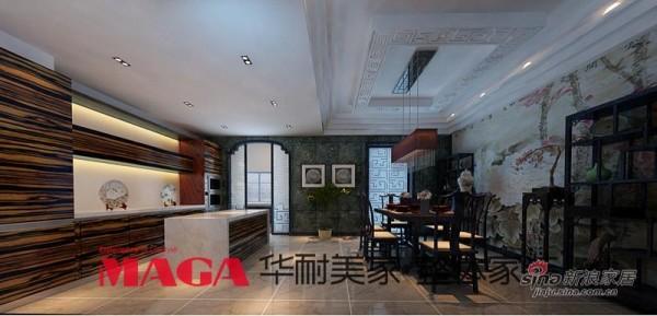 中式 别墅 厨房图片来自用户1907658205在50万打造290平高端现代新中式别墅53的分享