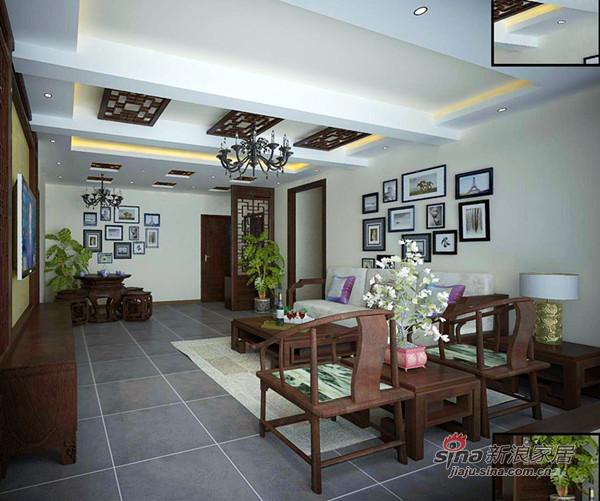 中式 二居 客厅图片来自用户1907696363在6万打造80平米2居新中式93的分享