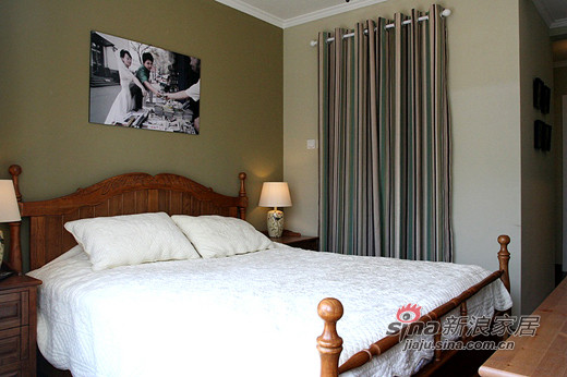 混搭 三居 卧室图片来自用户1907689327在7万装卡布奇诺110平混搭时尚3居43的分享