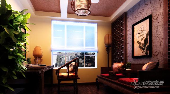 中式 三居 书房图片来自用户1907662981在全包120平中海城别样新中式风格三居34的分享