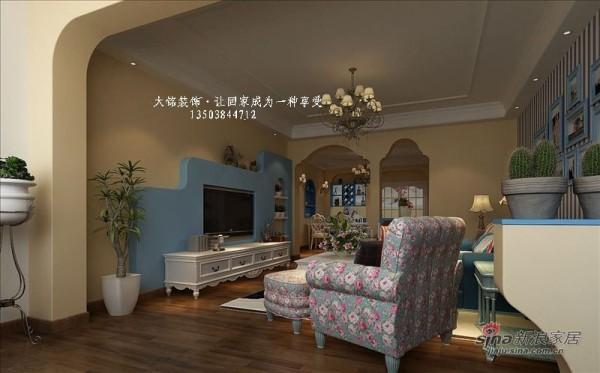 地中海风格家庭装修-客厅设计效果图