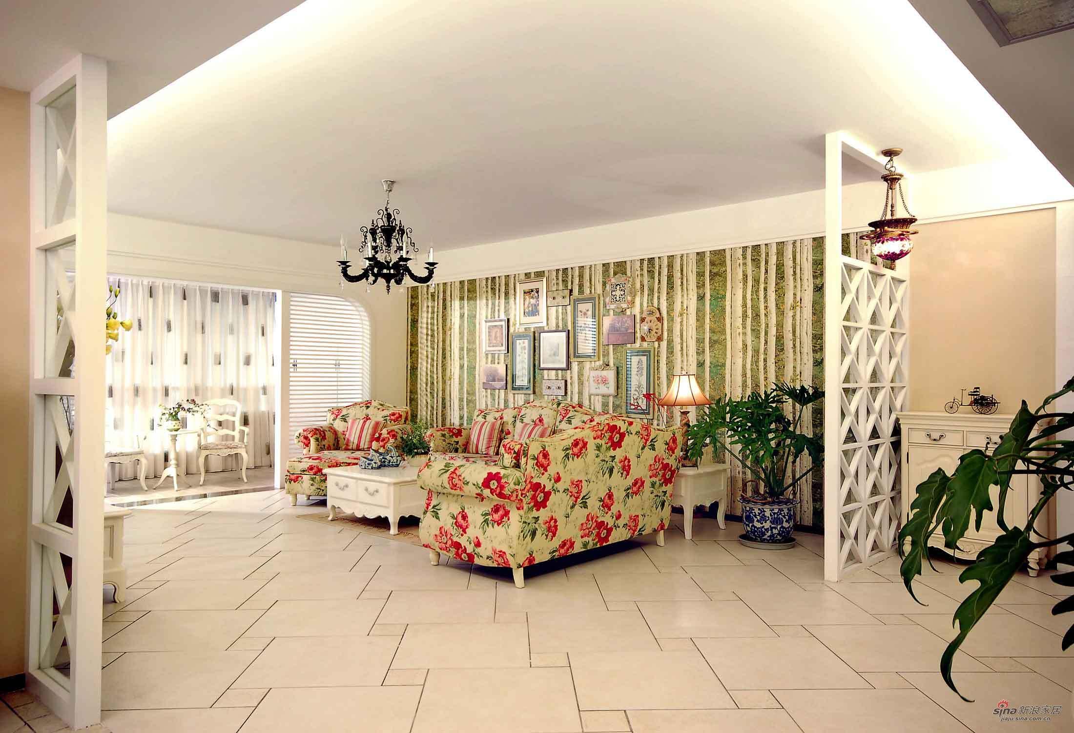 田园 二居 客厅图片来自用户2737791853在田园碎花 满屋情调尽在105平大家里65的分享