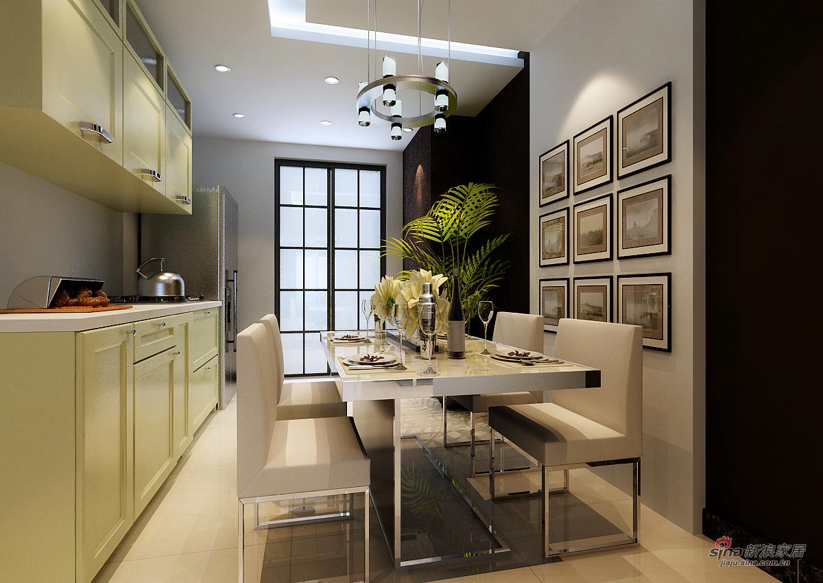 混搭 二居 餐厅图片来自用户1907655435在天津实创装饰-现代混搭41的分享