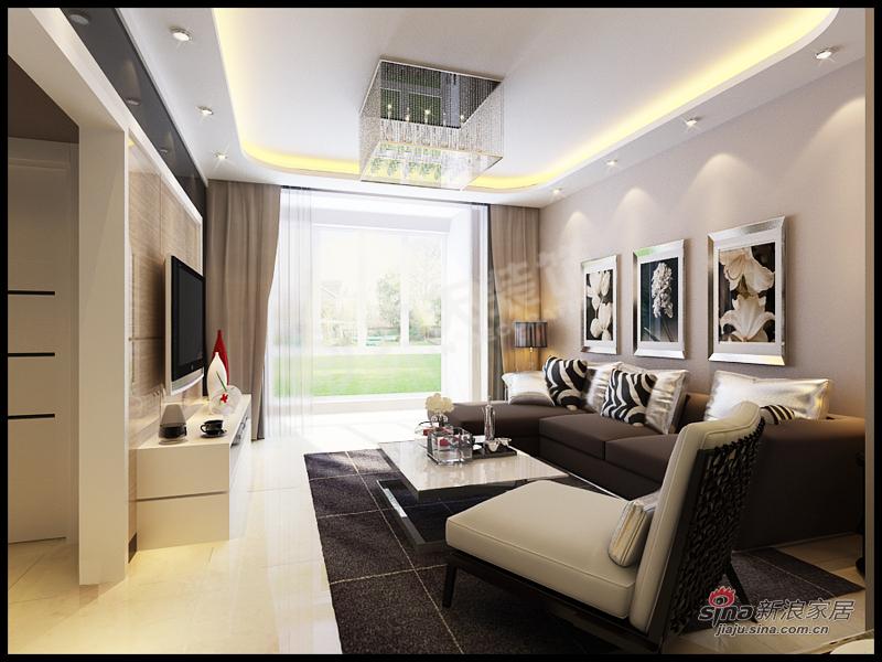 简约 二居 客厅图片来自阳光力天装饰在金隅悦城-两室两厅一厨一卫-现代简约62的分享