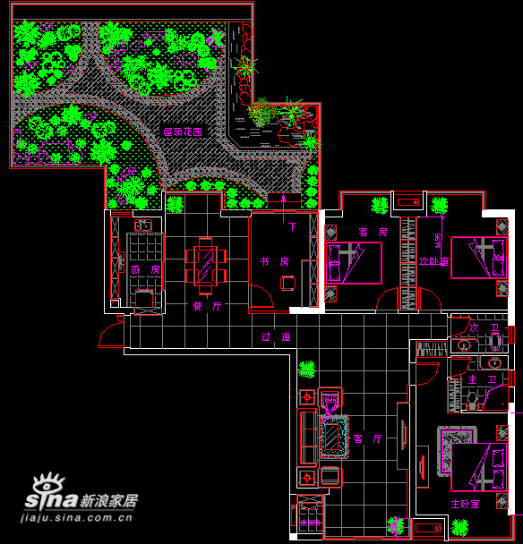 简约 四居 户型图图片来自用户2739081033在会呼吸的空间--住在花园里42的分享