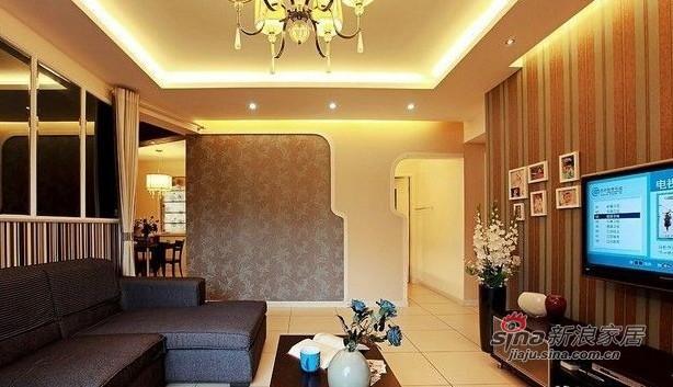 简约 二居 客厅图片来自佰辰生活装饰在10万打造80平民族风简约两居71的分享