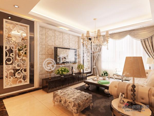 欧式 二居 客厅图片来自阳光力天装饰在雅诗兰亭-两室一厅一厨一卫