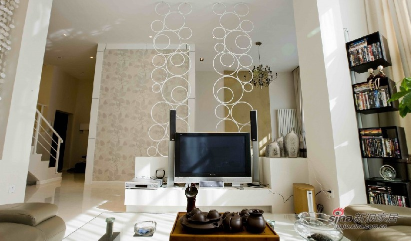 简约 复式 客厅图片来自用户2738829145在【高清】清包10万装修混搭复式40的分享