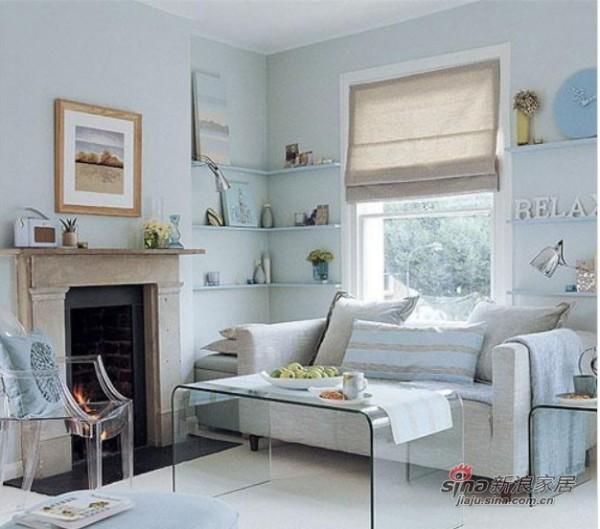 """极简设计的倒""""U""""字形玻璃茶几和沙发边柜"""