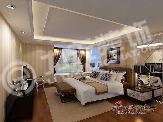 欧式 二居 卧室图片来自阳光力天装饰在94平华丽欧式风两居61的分享