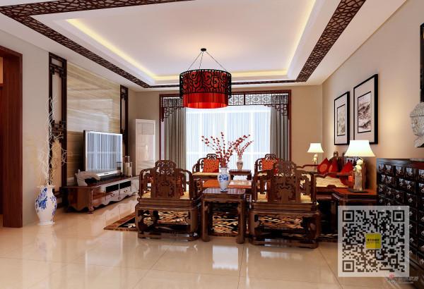 韩家川中式风格四居室