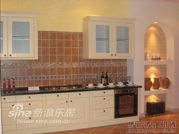 地中海 跃层 厨房图片来自用户2756243717在欧式复古风格-马可波罗68的分享