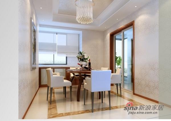 中式 三居 餐厅图片来自用户1907661335在纯净色调130平现代3居婚房52的分享