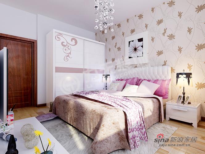 简约 一居 卧室图片来自阳光力天装饰在旷世新城的分享