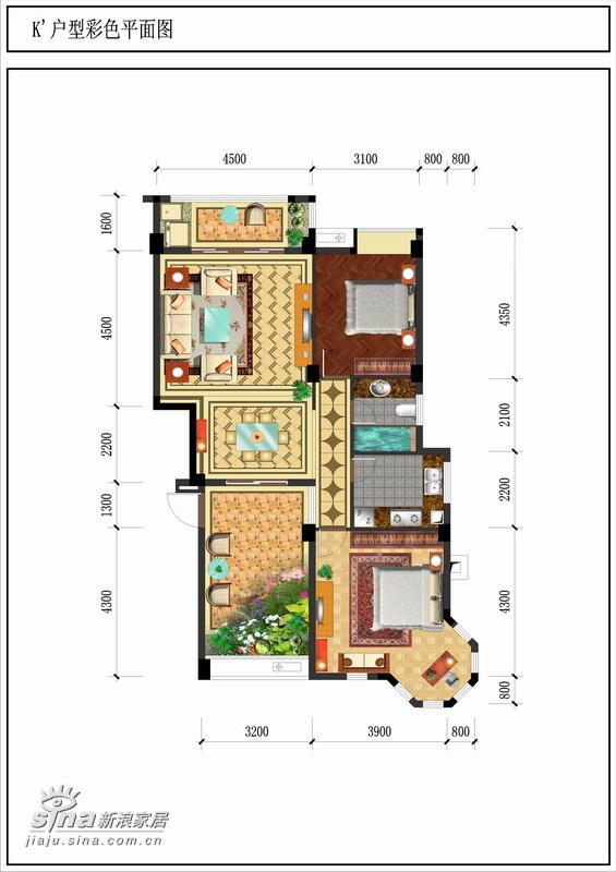 中式 二居 户型图图片来自wulijuan_16在翡翠城43的分享
