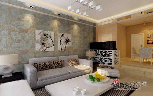 现代简约客厅沙发背景效果图