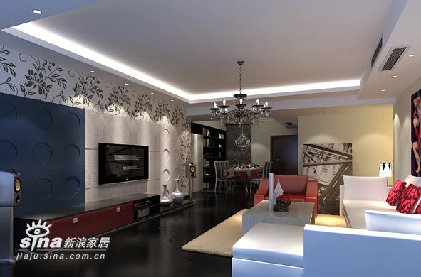 简约 三居 客厅图片来自用户2556216825在极简加奢华55的分享