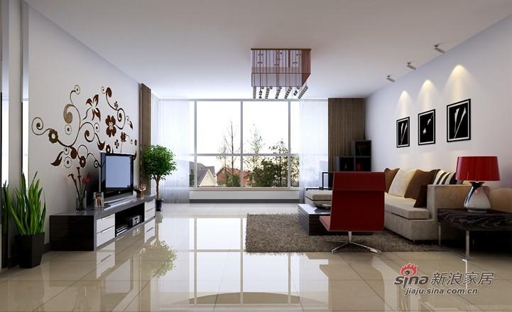 简约 三居 客厅图片来自用户2738813661在9.8万100平简约大气三居99的分享