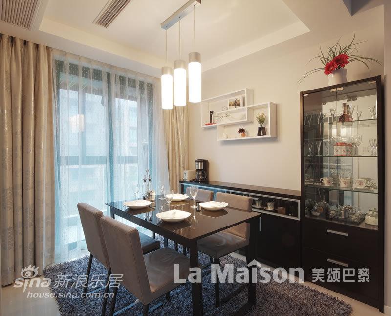 简约 二居 餐厅图片来自用户2737759857在美颂巴黎现代简约87的分享