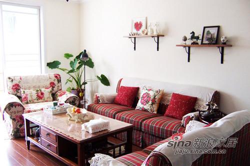 乡村风格的沙发。