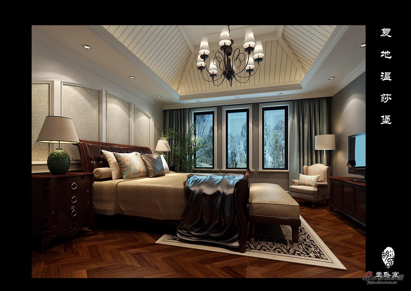 欧式 别墅 卧室图片来自用户2746889121在别墅装修设计效果图70的分享