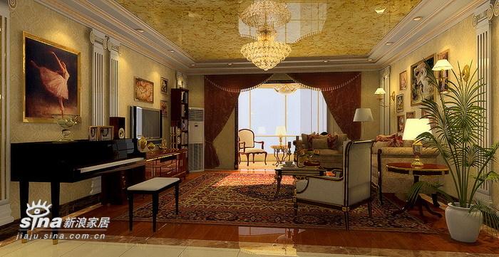 欧式 复式 客厅图片来自用户2746869241在13万欧式古典16的分享