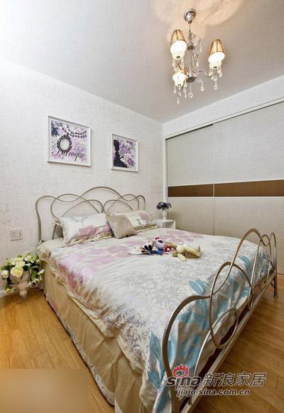 """简约 二居 卧室图片来自用户2737759857在80后16万装2居婚房很""""蓝调""""69的分享"""