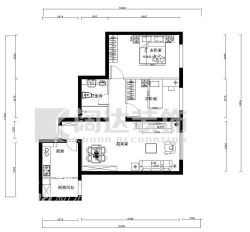 简约 一居 客厅图片来自用户2737786973在阔达装饰85的分享