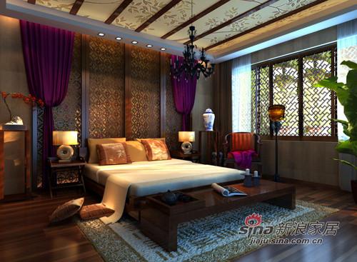 中式 四居 卧室图片来自用户1907696363在55万打造新中式风格92的分享