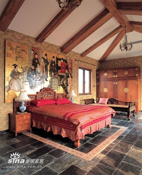 中式 别墅 卧室图片来自用户2757926655在简约中的异域之魅30的分享