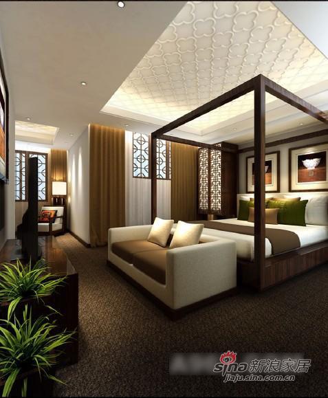 中式 三居 卧室图片来自用户1907659705在创意中式别墅设计78的分享