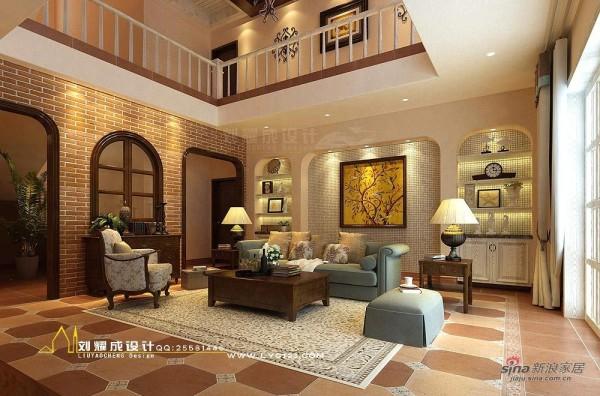 美式乡村风格别墅客厅2